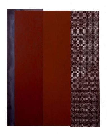 "Merrill Wagner,  Ripple , 2006, Rust preventative paint on steel, 72.75 x 57.5"""