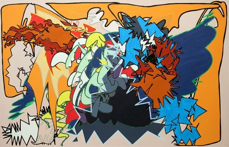 Zephyrus, 2008, acrylic on canvas, 51 x 80 inches