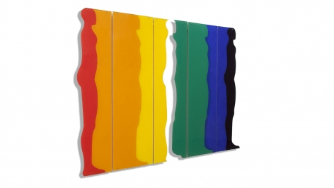 Standing Figure, 1967, acrylic on Plexiglas, 48.5 x 65 inches/123.2 x 165.1 cm
