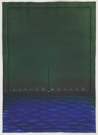 Balini III, 2010, ink and dye on paper, 55 x 39 inches/140 x 100 cm