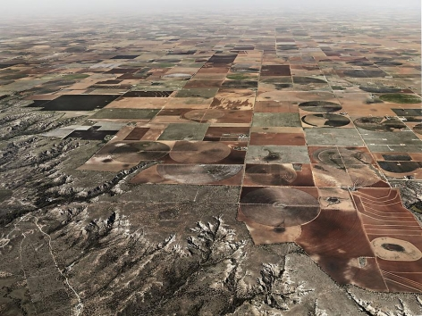 Pivot Irrigation #11 , High Plains, Texas Panhandle, USA, 2011, chromogenic color print, 48 x 64 inches