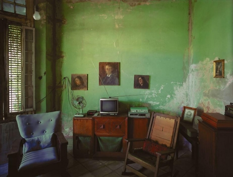 Robert Polidori, Home of Mercedes Alfonso, Linea No. 508 (between D and E), Vedado, Havana, Cuba, 1997, Epson Archival Inkjet Print, 40 x 50 inches. Photographs © Robert Polidori