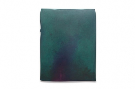 , Robert Yasuda, Trace, 2013, acrylic on fabric on wood, 39 x 30 inches / 99 x 76.2 cm.