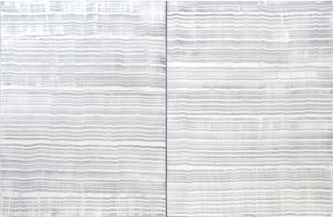 4 Los Angeles - Violet and White (Peace), 2016, oil on linen,83 x 128 inches/210.8 x 325.1 cm