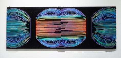 Flow Field, 2019, copper plate pigment, 19.7 x 15 x .08 inches/50 x 38.2 x .2 cm