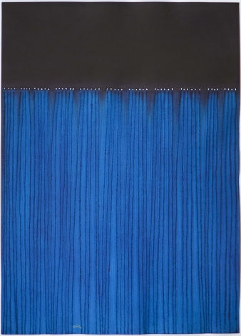 Sohan Qadri, Nitya, 2008, ink and dye on paper, 55 x 39 inches/139.7 x 99.1 cm