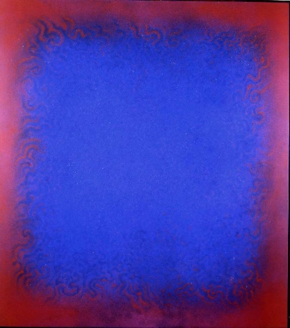 Natvar Bhavsar,  REESHEE,  2006 Pure pigment on canvas 75 x 68""