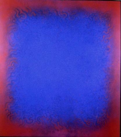 "Natvar Bhavsar,  REESHEE,  2006 Pure pigment on canvas 75 x 68"""