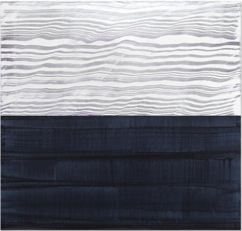 White & Violet Blue 3, oil on linen, 40 x 42 inches/102 x 107 cm