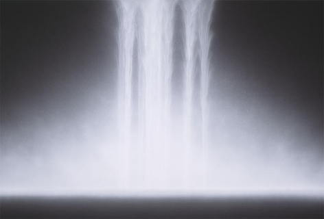 Hiroshi Senju, Waterfall, 2012, natural, acrylic pigments on Japanese mulberry paper, 51 5/16 x 76 5/16 inches