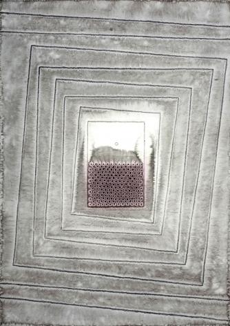 Sohan Qadri,Aloka IV, 2007, ink and dye on paper,55 x 39 inches/139.7 x 99.1 cm