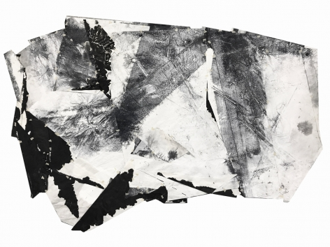 Liquid Map, 2017, ink and acrylic on paper, 93 x 128 cm