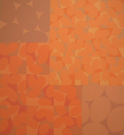"""Betty Weiss,  Summering , 2003, Acrylic on canvas, 60 x 55"""""""