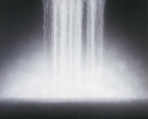 Hiroshi Senju, Waterfall, 2009, Natural pigments on Japanese mulberry paper, 181.8x227.3cm