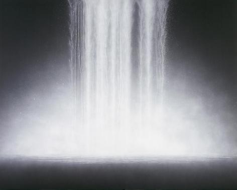 Hiroshi Senju, Waterfall, 2009, Natural pigments on Japanese mulberry paper, 181.8x227.3cm