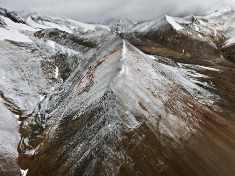 , Edward Burtynsky, Mount Edziza Provincial Park #3, Northern British Columbia, Canada, 2012, chromogenic color print, 48 x 64 inches; Photograph © 2012 Edward Burtynsky