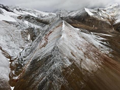 , Edward Burtynsky, Mount Edziza Provincial Park #3, Northern British Columbia, Canada, 2012, chromogenic color print, 48 x 64 inches; Photograph © 2012 Edward Burtynsky