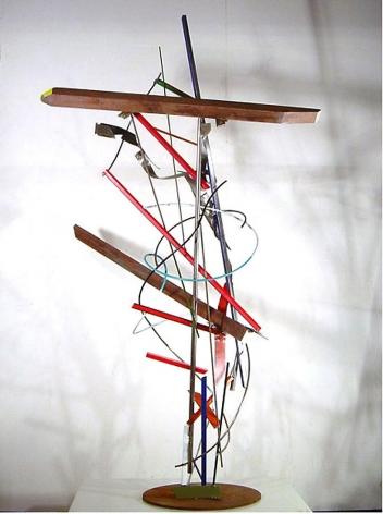 "Fré Ilgen,  Love Like Man , 2007, industrial paint on stainless steel, wood, 82.75 x 52 x 31"""