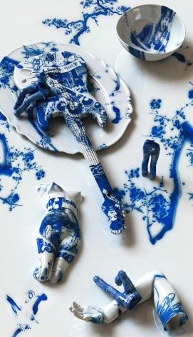 Blue Jean Blues-Jimi Hendrix, 2012, digital print, 68.9 x 39.4 inches/175 x 100 cm
