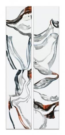 Ricardo Mazal, ODENWALD 1152 N.23, 2008, Oil on linen, 78 x 33.5 inches