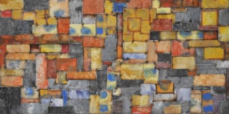 , Nathan Slate Joseph, RioRioRio, 2013, pure pigment on steel, 48 x 96 inches/121.9 x 243.8 cm