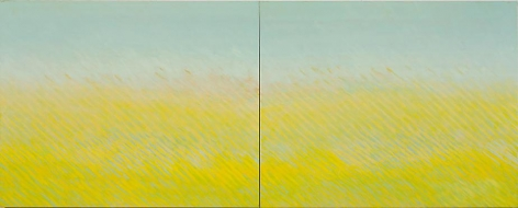 "Latitude, 2007, Oil on canvas, 48 x 120"" (diptych)"