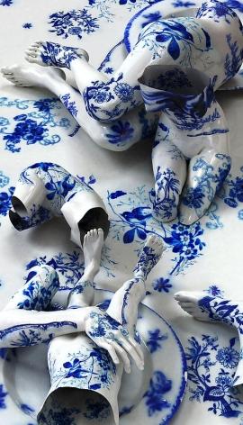 Kim Joon, Fragile-Flow Blue, 2010, digital print, 82.7 x 47 inches