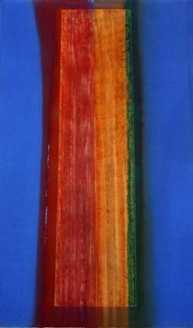 """Azzurro Rivoli, 2001, Mixed media on Arches paper, 40.5 x 26"""""""