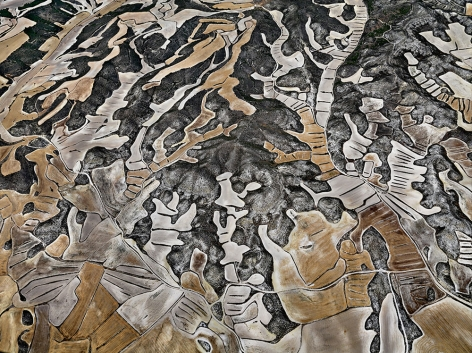 Edward Burtynsky, Dryland Farming #12, Monegros County, Aragon, Spain, 2010, chromogenic color print, 48 x 64 inches/122 x 162.6 cm