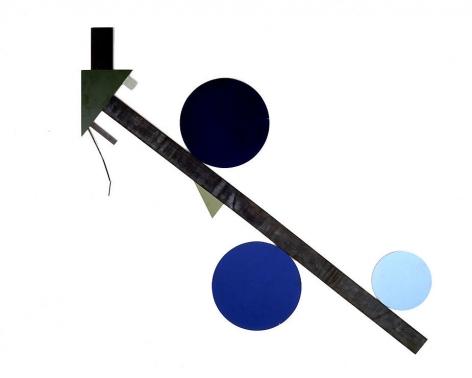 "Merrill Wagner,  Fallen Over Flower , 2007, Rust preventative paint on steel, 99 x 107"""
