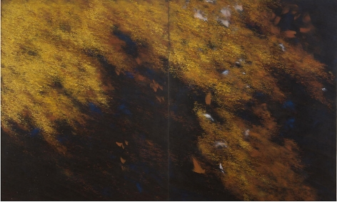 "Night Breeze, 2008, Acrylic on canvas, 72 x 126"""