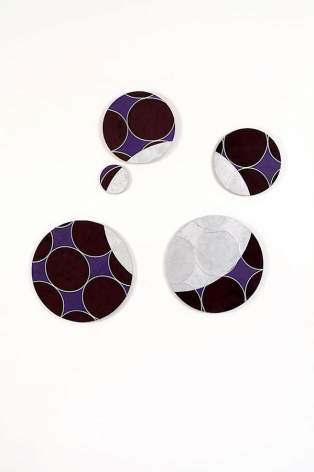 Orbit, 2009, acrylic on mixed media, 50 x 46 inches