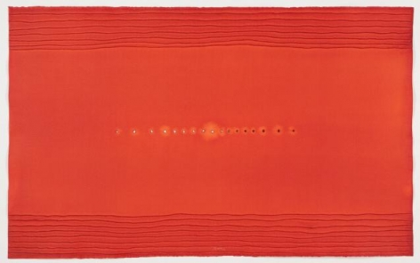 Sohan Qadri, Maha Maya, 2010, Ink and dye on paper, 49 x 78.5 inches