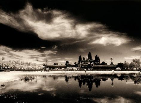 """Solar Eclipse, Angkor Wat"", Silver Gelatin Print, 20 x 24"""