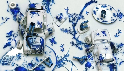 Blue Jean Blues - Rebel without a Cause, 2012, digital print, 47.2 x 82.7 inches
