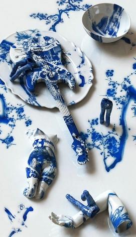 Blue Jean Blues - Jimi Hendrix, 2012, digital print, 68.9 x 39.4 inches