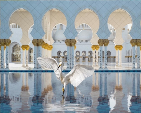 The Way of Ishq, Grand Mosque, Abu Dhabi,2019 Hahnemühle Ink Jet Prints, 56 x 72 inches/142 x 182 cm