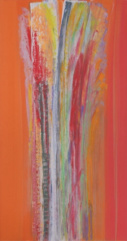 Surya's Grace, 2008, Acrylic on linen, 69.75 x 36.75""