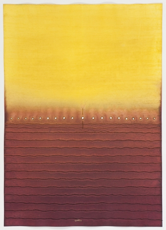 Uma III, 2008, ink and dye on paper, 55 x 39 inches/139.7 x 99.1 cm