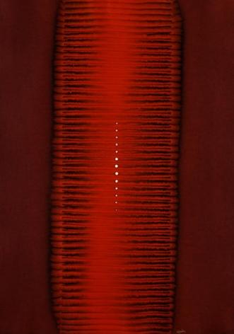 "Sohan Qadri, Amisha I, 2006, Ink & dye on paper, 55 x 39"""