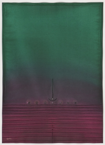 Puja V, 2010, ink and dye on paper,55 x 39 inches/139.7 x 99.1 cm