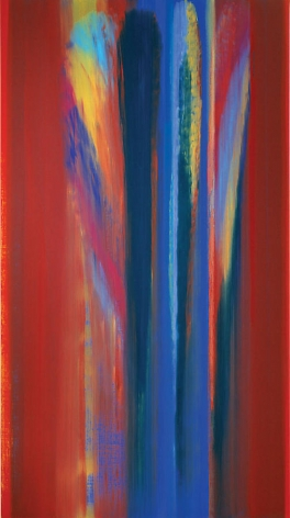 Blazing Om, 2008, Acrylic on linen, 94.5  x 51.5""