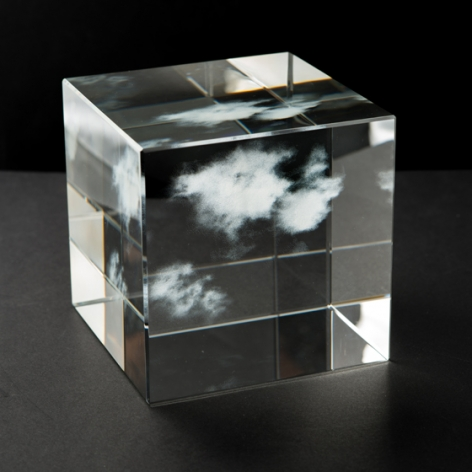 Kumo 5.5.5, 2017, glass, 5 x 5 x 5 inches/12.7 x 12.7 x 12.7 cm