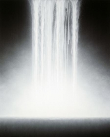 , Hiroshi Senju, Waterfall, 2011, acrylic pigment on Japanese mulberry paper, 89.5 x 71.6 inches/228 x 182 cm