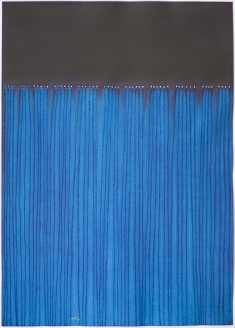 Nitya, 2008, ink and dye on paper,55 x 39 inches/139.7 x 99.1 cm