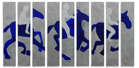 Susan Weil, Flicker, 2008, acrylic on canvas, 52 x 108 inches