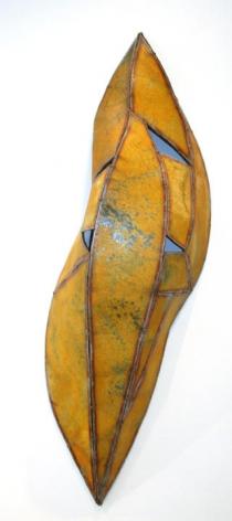 "Nathan Slate Joseph,  Kalahari Kalahari II , 2006, Pure pigment on galvanized steel, 72 x 24 x 2"""