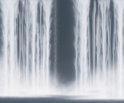 Waterfall, 2020, natural pigments on Japanese mulberry paper mounted on board, 63.8 x 76.3 inches/162 x 194 cm,