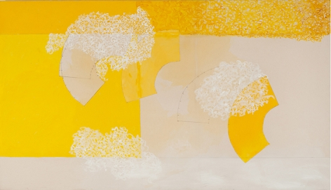 Stillness, 2014, acrylic and pencil on canvas, 48x 84inches/121.9 x 213.4cm