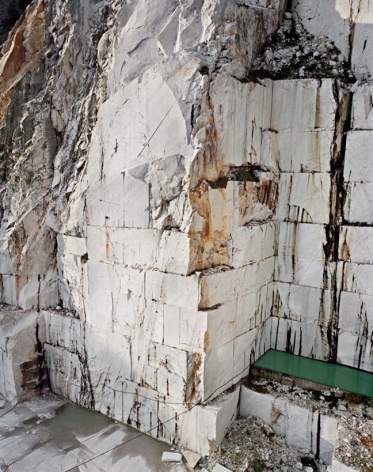 Carrara Marble Quarries #12, 1993, chromogenic color print, 60 x 48 inches/152.4 x 121.9 cm